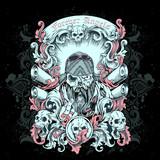 T-Shirt Print Biker Gang poster