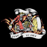 T-Shirt Print Born to ride