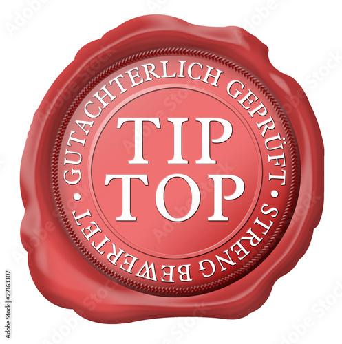 siegel tip top gutachterlich geprüft strend bewertet
