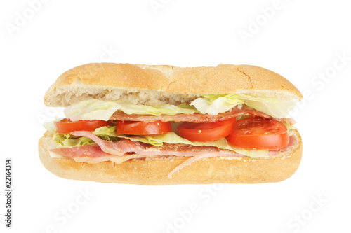 Fotobehang Brood Bacon lettuce and tomato roll