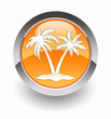 ''Palm beach'' glossy icon