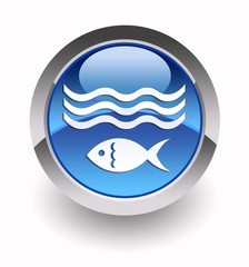 ''Fishing'' glossy icon
