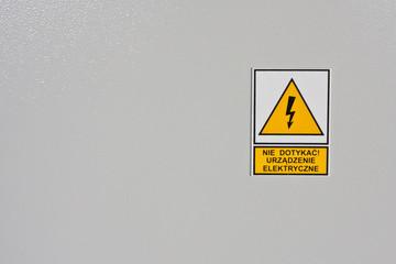tabliczka ostrzegwacza