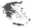 Karte von Griechenland - freigestellt
