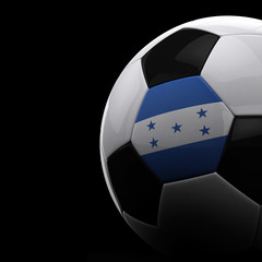Honduran soccer ball over black background
