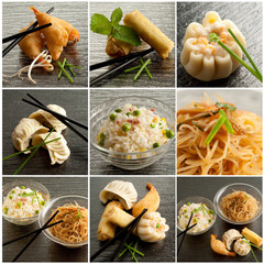 collection of china food