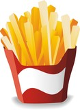 Fast Food-Patatine Fritte-French Fries