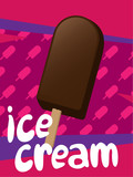 Ice cream vector illustration.