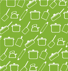 Background from kitchen ware