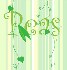 Peas green background.
