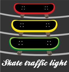 Skate traffic light