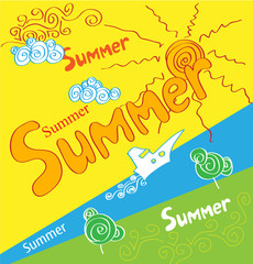 holidays summer poster