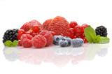 Fototapeta truskawka - jeżyna - Owoc