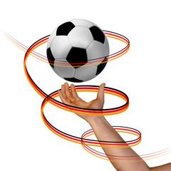 Fussballspirale frei