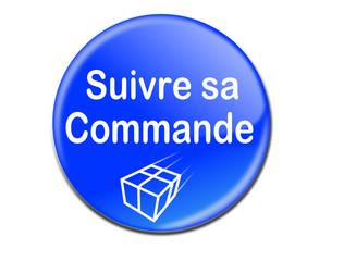 """Bouton 3d web """" suivre sa commande"""" bleu"""