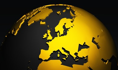 Golden Planet - Europe - Europa Schwarz Gold