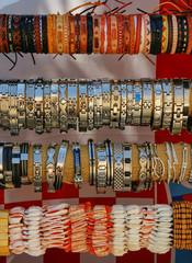 Cheap bracelets at the marketplace