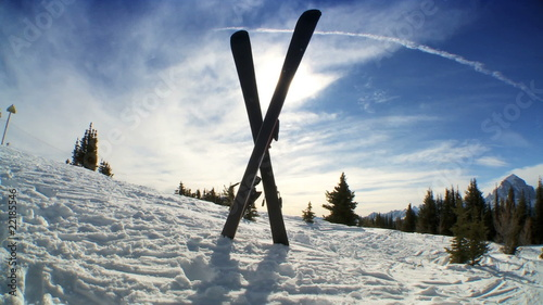 Crossed Carver Downhill Skis