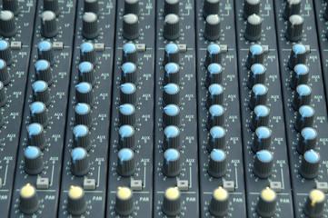 Botones de equipo de iluminación y sonido