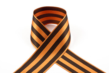 St.George ribbon on a white background