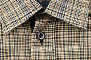 Collar of men's  color shirt