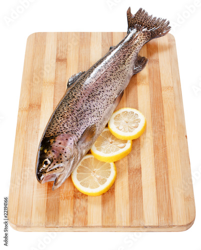 Trout fish with lemon