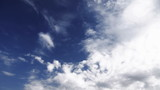 Changing weather. Blue sky becomes overcast sky. poster