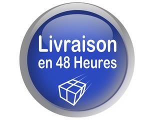 """Bouton web 3D """" Livraison en 48 heures """""""