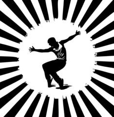 Strahlenkranz mit Tänzer
