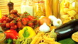 Healthy eating option vegetables, pasta & seeds