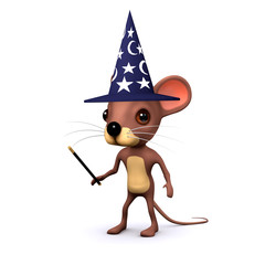 3d wizard mouse with wand