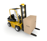 Person drive a Forklift