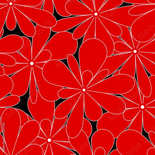 Seamless Pattern Red Flowers © Jan Engel