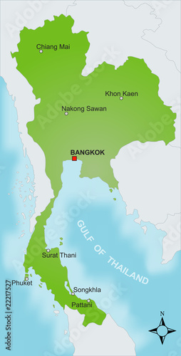 Karte Thailand vektor