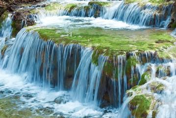 blue spring cascade