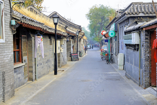 Foto op Aluminium Beijing Beijing old town, the typical houses ( Hutong