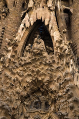 unfinished gothic cathedral Sagrada Familia in Barcelona, Spain