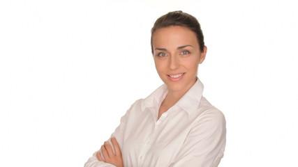 Beautiful businesswoman coming