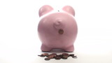 Piggy bank poops money - HD