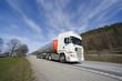 fuel truck in motion