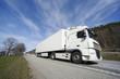 large truck speeding past