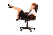 businesswoman  in chair on white background