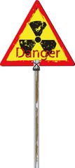 Traffic sign radioactive danger
