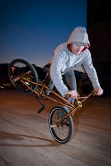 Bmx training at night