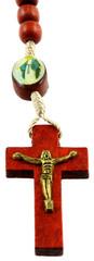 croix de chapelet catholique, fond blanc