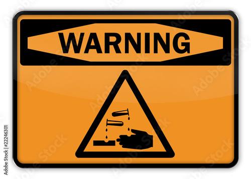 Warning Sign Acid t-shirt
