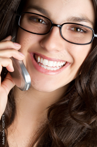 Smiling Phone Woman
