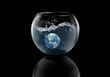 earth splash in water