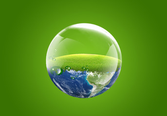 earth in a water bubble