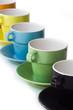 Tasses de café colorées